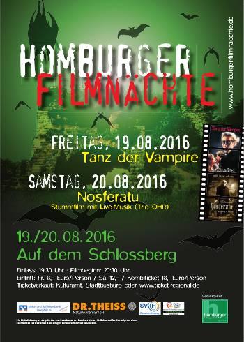 Plakat homburger filmnaechte 2016